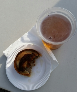 A Pie & A Pint and A Game of Football on a Sunny Spring Evening. Nice!